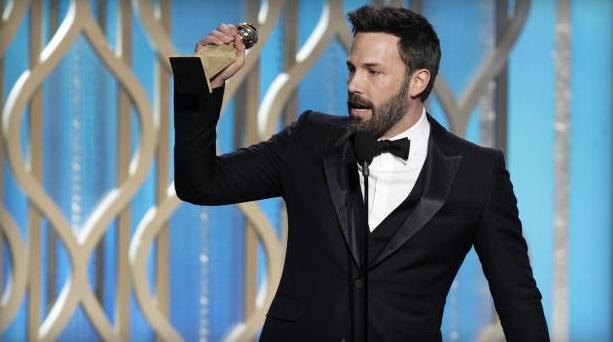 Argo, dirigido por Ben Affleck (acima), levou os prêmios nobres: filme e diretor (Foto: CBS/Reprodução)