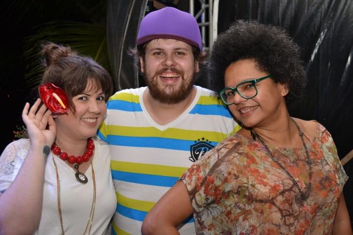 O trio de produtores, Allana Marques, Lucas Logiovine e Lala K (Foto: Divulgação)