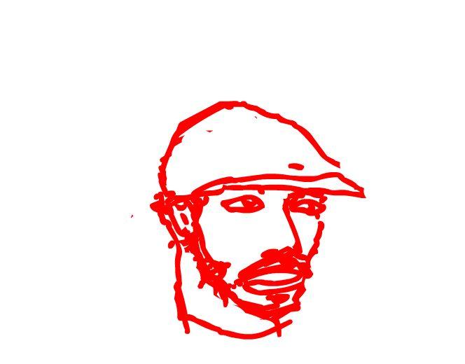 Paulinho do Amparo, em auto-retrato (Divulgação)