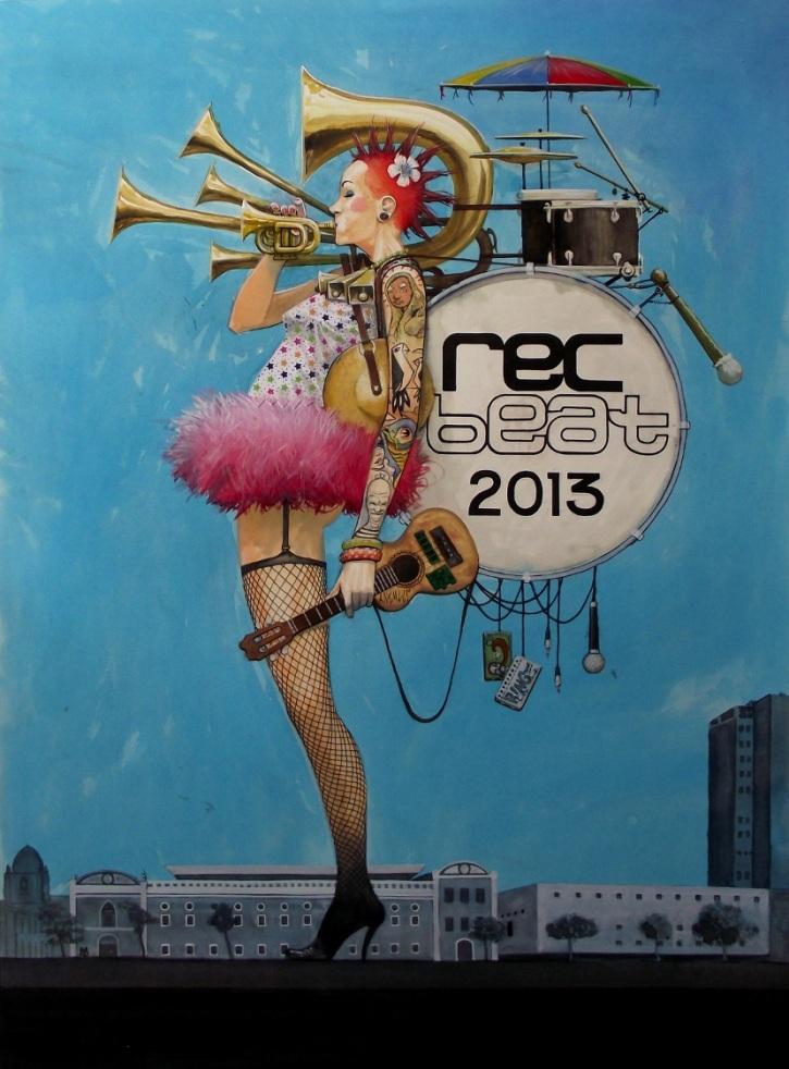 O artista assina a arte deste ano do festival Rec-Beat (Divulgação)